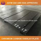 Plaque de recouvrement de carbure de chrome pour des machines d'extraction de sable