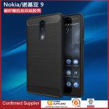 Kasten-Kohlenstoff-Faser-Deckel-Form-rückseitiger Deckel des weichen Pinsel-TPU für Fall Nokia-9
