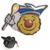 Zollled blinkendes Pin-Abzeichen für Förderung