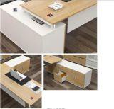 A melamina moderno mobiliário de fantasia CEO do escritório de turismo com painel lateral