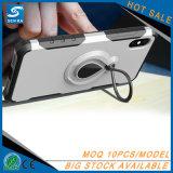 Лоснистая крышка телефона случая стойки кольца на iPhone 7