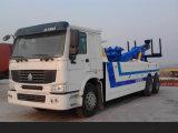 Wrecker da estrada da capacidade 50ton do reboque de HOWO para a venda