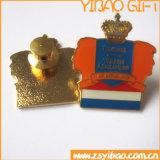 O pino de metal Ouro personalizados com superfície cintilante (YB-LY-B-01)