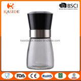 Стан соли и перца белого керамического сердечника стеклянный ручной