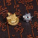 Il materiale del metallo ha inciso sei militari del distintivo della stella