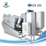 Stainless-Steel planta alimenticia Tratamiento de Aguas Residuales de la máquina de deshidratación de lodos de prensa de tornillo