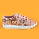 بنات لون قرنفل [سقوين] شريط جار حذاء رياضة أحذية مع لؤلؤة