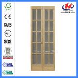 Porta francesa dobro composta do vidro da madeira contínua