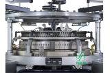 コンピュータ化された単一の織物のジャカード円の編む機械