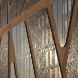 Besnoeiing van de laser nam Gouden Spiegel toe Hairline Roestvrij staal Gegraveerde Comités Curtain&#160 sneed; De Bekleding Architectural&#160 van de muur; Voorzijde