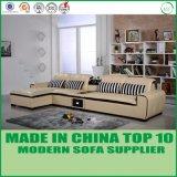 L'America Chesterfield Furshings L di legno di cuoio sofà di figura