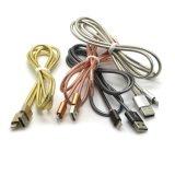 Cable de carga rápido del relámpago de los datos de la sinc. del cargador del USB del resorte creativo del metal para el iPhone X 8 8 más 7 6s/6s más 6 5s
