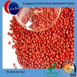 Produtos químicos LDPE/PEAD borracha plástico cor Masterbatch Vermelho Verde Pelotas