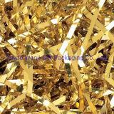 Goldmetallische zerrissene Folie - Korb-Einfüllstutzen