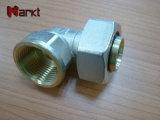 Piezas acodadas de cobre de cobre amarillo de la prensa de tornillo de la talla grande para el tubo
