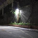 구부려진 900lm 레이다 센서 움직임에 의하여 활성화된 옥외 LED 태양 정원 빛을 방수 처리하십시오
