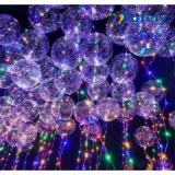 Weihnachtsbobo-Ballon-glühender Ballon 18 Zoll-LED heller freier