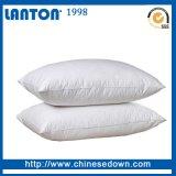 Pluma del ganso del precio de fábrica y abajo almohadilla blancas suaves del cuello