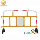 barreira de segurança plástica da estrada do controle de multidão de 1500*1000mm com cobertura reflexiva