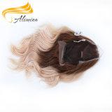 Peluca peruana del cordón del frente del pelo del pelo humano de Remi de la Virgen