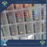 Barcode 수 홀로그램 레이블 인쇄