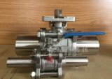 ステンレス鋼のバット溶接の手動3PCS球弁を延ばしなさい