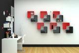 Crémaillère de livre en bois d'étagère de mur L forme