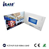 O cliente projetou 4.3 o folheto video do cartão de anúncio da polegada TFT LCD com tamanho de A4 A5