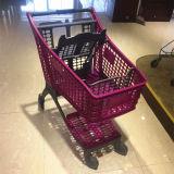 Chariots se pliants à achats de plein plastique de supermarché de constructeur de la Chine/chariot/panier