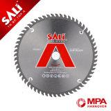 Saliはアルミニウム切断については100-120本の歯円T.C.T鋸歯を