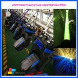 El equipo de la etapa de 260W DMX DJ haz de luz de lavado de cabeza móviles