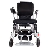 Toda a cadeira de rodas de dobramento elétrica de alumínio de pouco peso do terreno