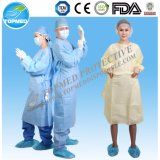 Abito non tessuto a gettare di isolamento dei pp, cappotto protettivo del laboratorio