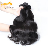 自然で黒いミンクのペルーの毛ボディ波の100%年のバージンの毛