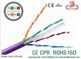 CAT6 Kabel 23AWG 4pair u. LAN-Kabel-Plattfisch-Durchlauf