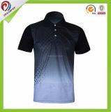 100%年の人のためのポリエステルによってカスタマイズされる卸し売りChinasublimationのゴルフポロシャツ