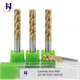 Торцевые фрезы каннелюр карбида 4 высокой эффективности 4*15*4*75 твердые с конкурентоспособной ценой
