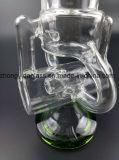 De beste Verkopende Waterpijp van het Glas met de Filter van de Kleur van de Nevel