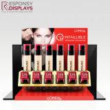 Les yeux contagieux parent les présentoirs acryliques rouges de lustre de Lipstick&Lip de renivellement