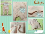 100% coton manchon Long Jump Romper bébé pour nourrisson