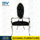 Hotel-Möbel-Tiffany-Stuhl-Stahlbankett-Stuhl, der Lehnsessel speist
