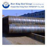SSAW tuyau Spirale en acier au carbone avec revêtement époxy/revêtement 3lpe conformément à l'AWWA C210/DIN30670 au transport par eau