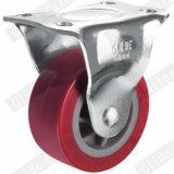 75mm PU 바퀴 빛 의무 PU 피마자 빨강 (G2201)