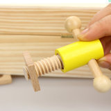 As crianças de madeira educacional presente de Natal do carpinteiro Definir fingir brinquedos de madeira