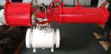 Molde Three-Piece del API 6D 3-PC o extremo Fuego-Seguro Doble-Block&Bleed de acero forjado de la vávula de bola de Trunion Dbb RF/Bw