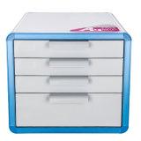 4 gavetas de gabinete do arquivo de travamento de metal com a alavanca azul
