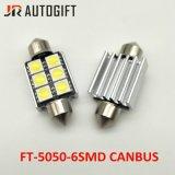 La lettura automobilistica illumina le lampadine del festone 6LEDs 5050 Nonpolarity Canbus