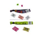 Wristband tessuto tessuto di controllo di accesso di pagamento di NFC RFID per gli eventi