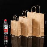 Crear la bolsa de papel para requisitos particulares del arte de Brown para las compras, bolso del acondicionamiento de los alimentos Kraft
