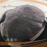 가득 차있는 사람의 모발 Handtied PU 주문 Mens Toupee (PPG-l-0556)